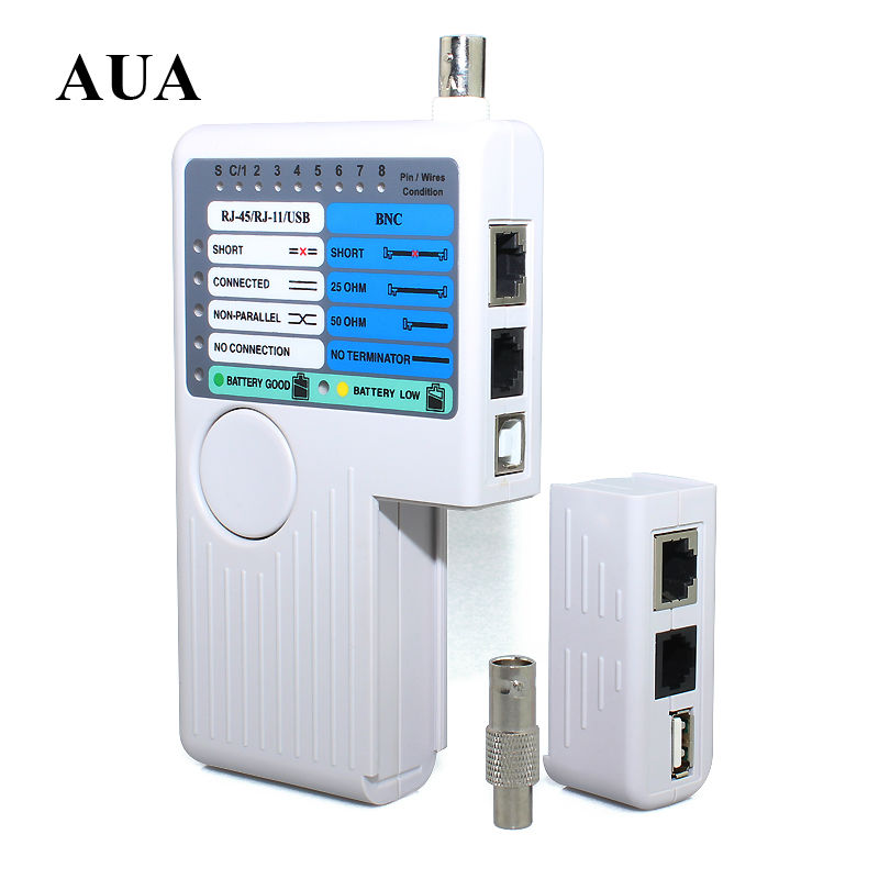 2015 New Remote RJ11 RJ45 USB BNC LAN Network Cable Tester For UTP STP LAN Cables Tracker Detector Top Quality Tool(China (Mainland))