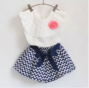 2016 summer children cotton minnie 2pcs/set T-shirt+dot skirt tutu dress girls clothing sets 3-10 years fashion kids clothes new(China (Mainland))