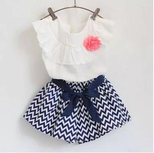 2016 summer children cotton minnie 2pcs/set T-shirt+dot skirt tutu dress girls clothing sets 3-10 years fashion kids clothes new(China (Mainland))