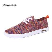 Nice Men Mesh Canvas Flats Brand Loafers Patchwork Breathable Outdoor Leisure Casual Shoes Lace Up Mens Footwear Chaussure Homme(China (Mainland))