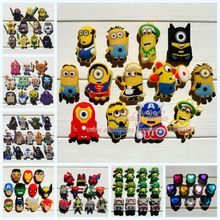 Mixed 11-13Pcs/lot Minions pvc shoe decoration shoe charms fit children croc shoes Accessories Dirthdays party gifts(China (Mainland))