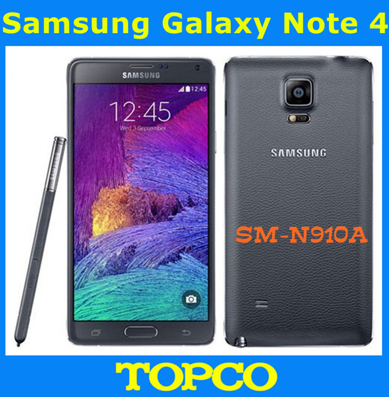 "Samsung Galaxy Note 4 N910A Original Unlocked 3G&4G GSM Android Mobile Phone Quad-core 5.7"" 16MP 32GB WIFI GPS(China (Mainland))"