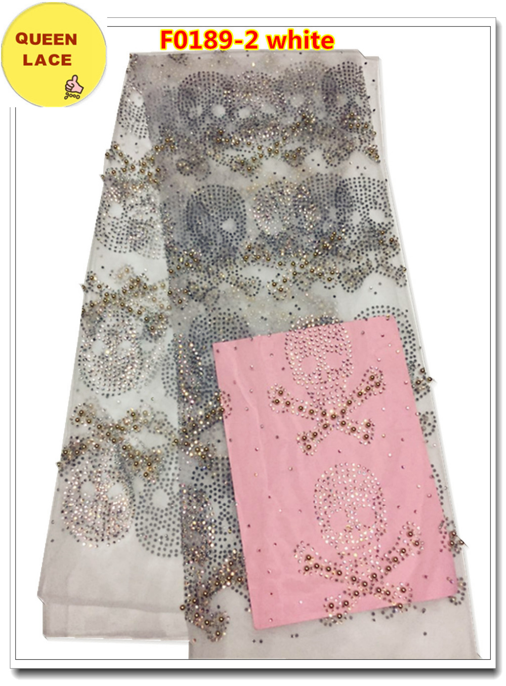 Nigerian Laces Tulle Lace Fabric Bridal Beaded Fabric Embroidered Lace Dress Beaded French Lace(China (Mainland))