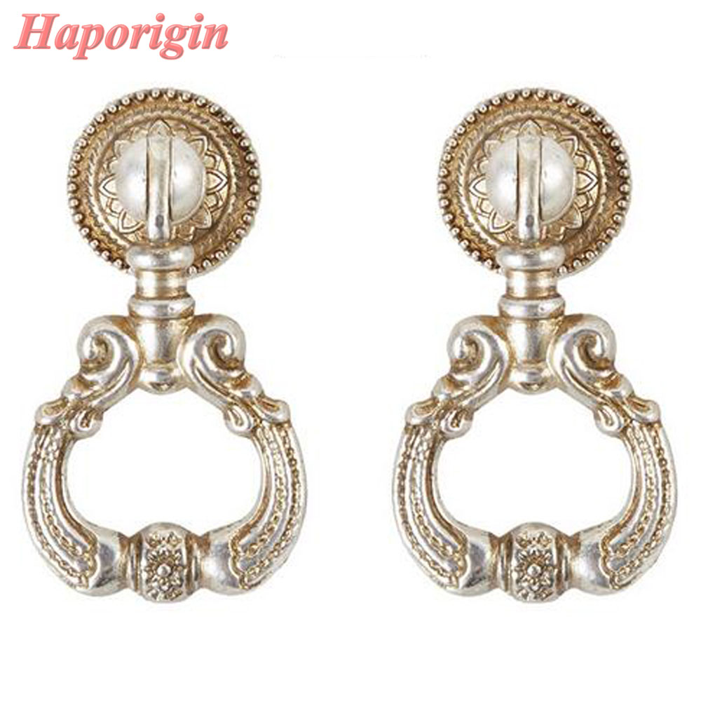 5x Ring Pull Kitchen Cabinet Knobs Antique Cabinet Drawer Handle Furniture Pulls Wardrobe Door Cupboard Closet Dresser Knobs(China (Mainland))