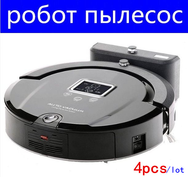 (Russian Warehouse) 4pcs Wireless Vacuum Cleaning Aspiradora Robot With LCD screen,UV Sterilize,Remote Control,Time Scheduling(China (Mainland))