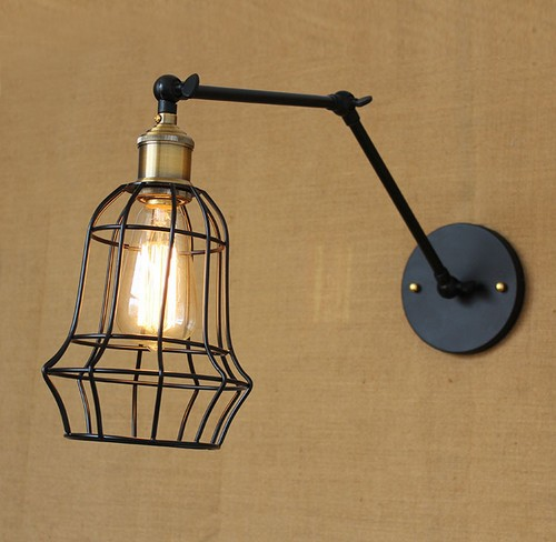 Фотография Edison Wall Sconce Retro Loft Style Industrial Vintage Wall Lamp Adjustable Iron Art  Wall Light Fixtures For Indoor Lighting