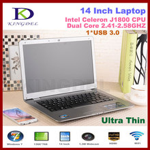 New arrival 14 Inch Laptop Notebook Computer Intel Celeron J1800 Dual Core 2.41-2.58GHz 4GB RAM 640GB HDD WIFI Webcam Mini HDMI(China (Mainland))