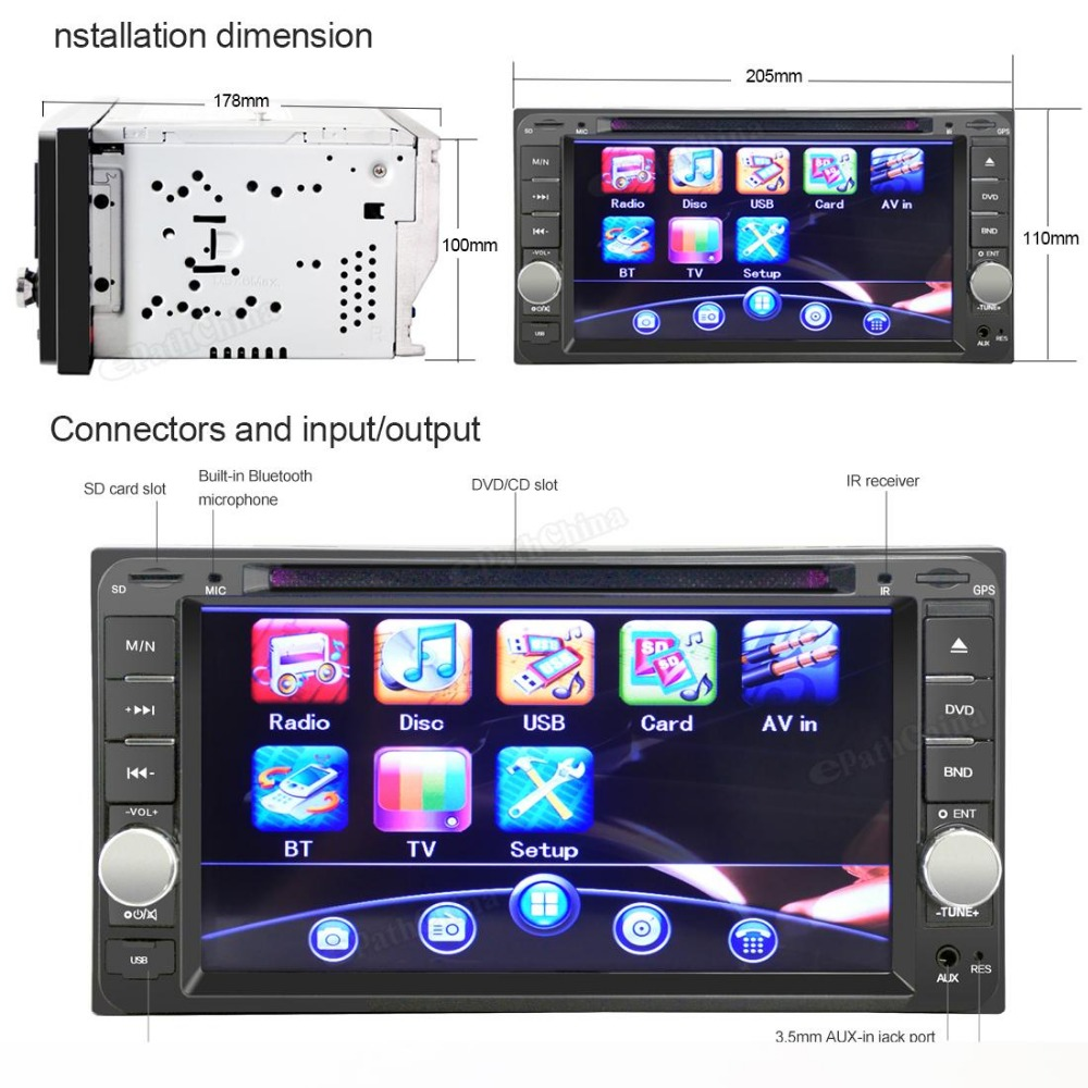 800 x 480 7-Inch Car DVD Stereo USB MP3Radio Player For Toyota Landcruiser Prado Hilux Supports up to 32GB + 420 TV Lines Camera(China (Mainland))