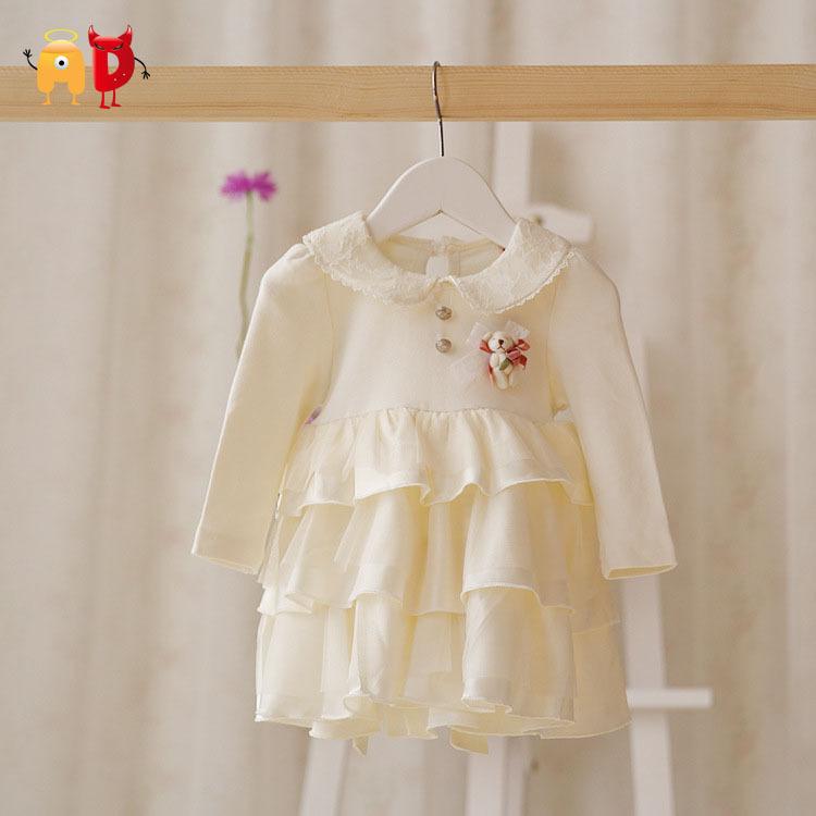 AD Cake Quality Baby Girls Dress Lace Mesh Spring Soft Clothing Toddler Dresses vestidos infantil roupas menina - Angel vs Devil store