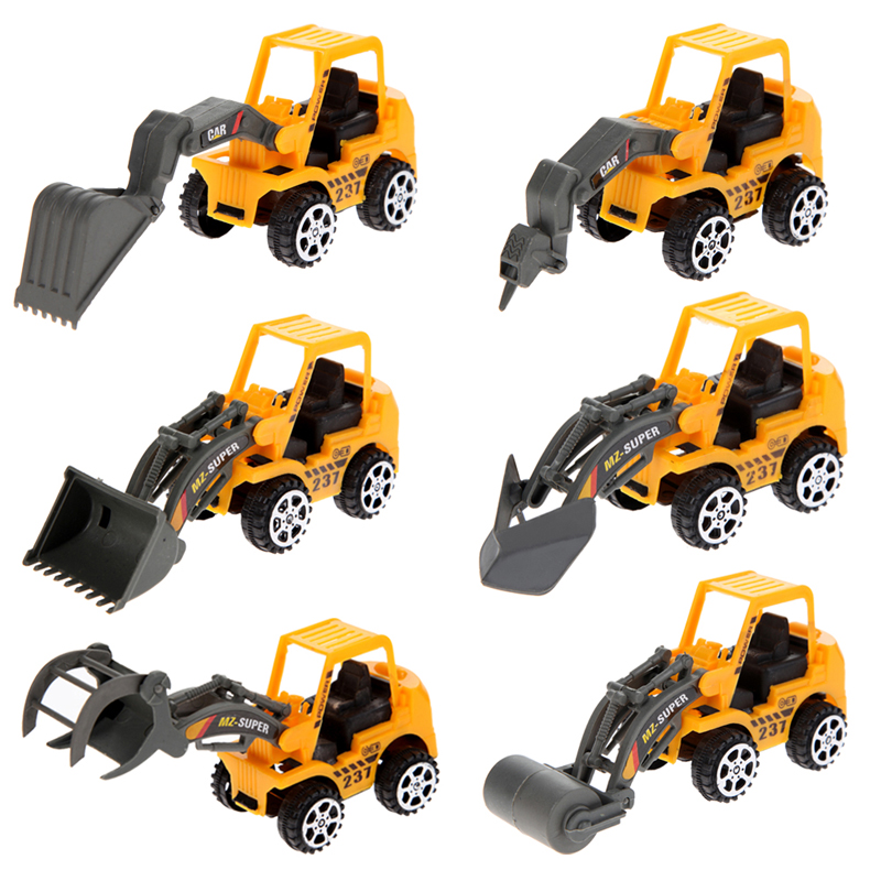 2016 New 6X Kids Mini Car Toys Lot Vehicle Sets Educational Toys Engineering vehicle FCI#(China (Mainland))