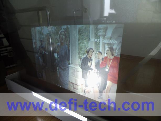 hot!! 1.5M * 10M DEFI transparent self adhesive rear projection screen film(China (Mainland))