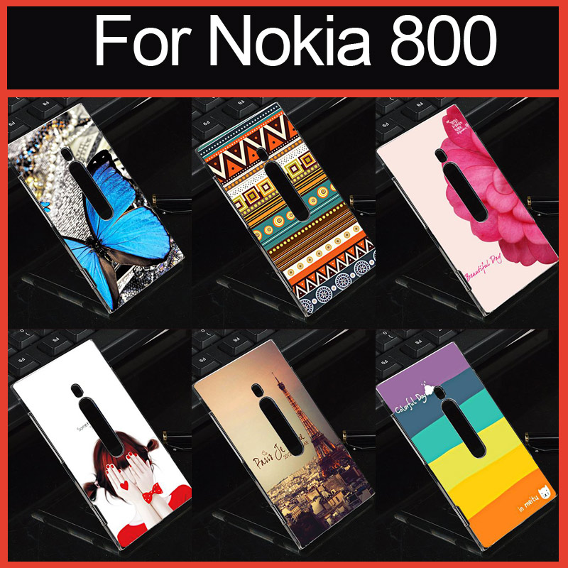 Promotion Multi Case With Colorful Beautiful Cover Case For Nokia Lumia 800 Cover(China (Mainland))