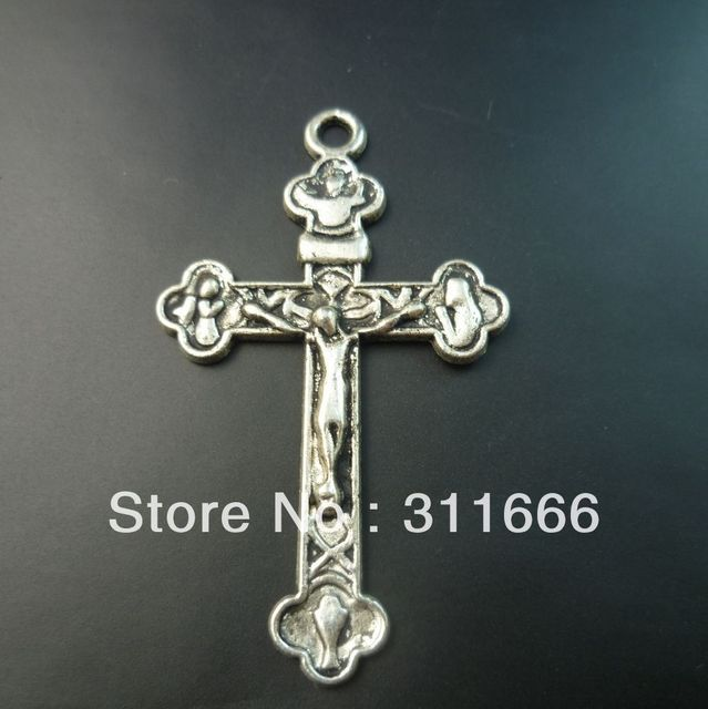 60 pcs/lot Cross tibet silver floating charms pendants Free shipping
