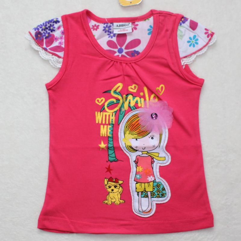 2013new design baby girls fashion summer t shirt cute for Newborn girl t shirts