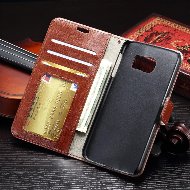 S7 G9300 G930F SM-G930F Luxury Flip Wallet PU Leather Case Cover For Samsung Galaxy S 7 G 9300 SM G930F Card Frame Stand Holder(China (Mainland))
