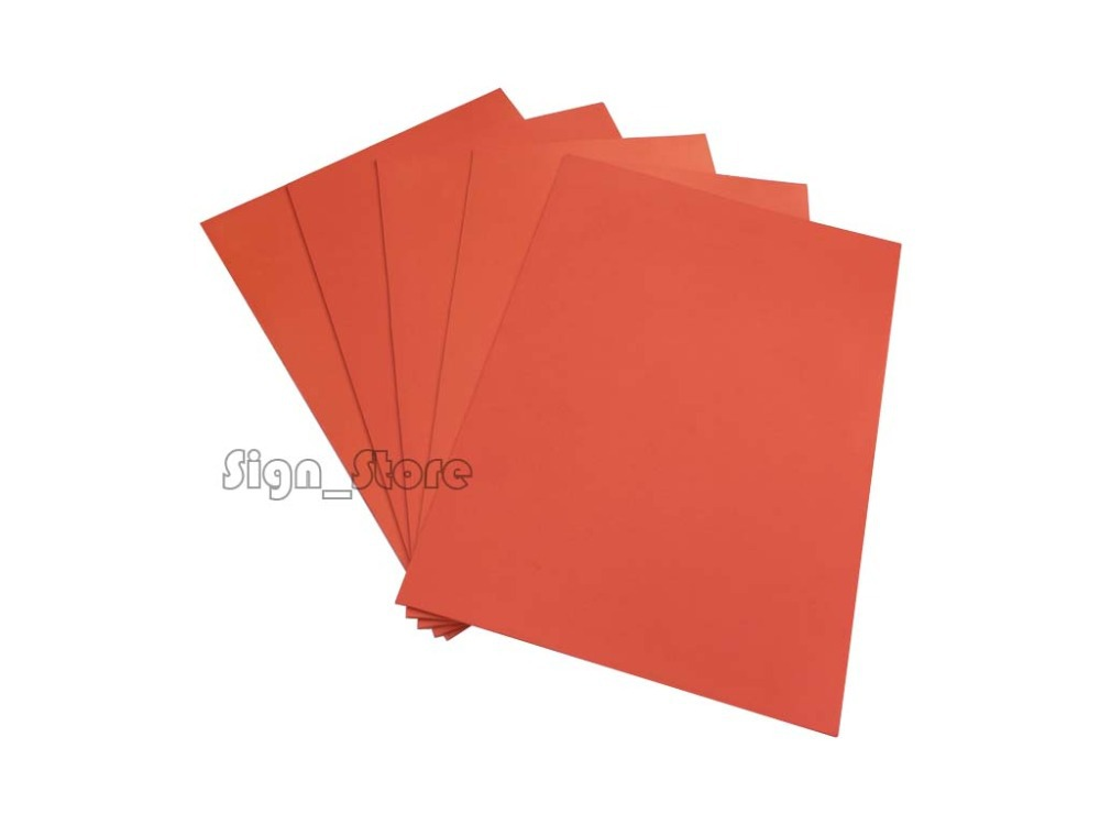 Free Shipping Laser Rubber Sheet 297 x210 x2.3mm A4 Size Orange colour for laser Engraving Engraver Stamp Maker(China (Mainland))