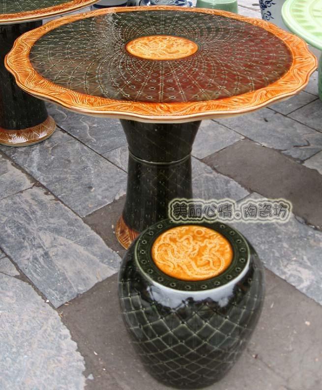 Jingdezhen porcelain hand-carved tables Special Buy Apple stool - Warring States Period - porcelain porcelain pier tables Sets(China (Mainland))