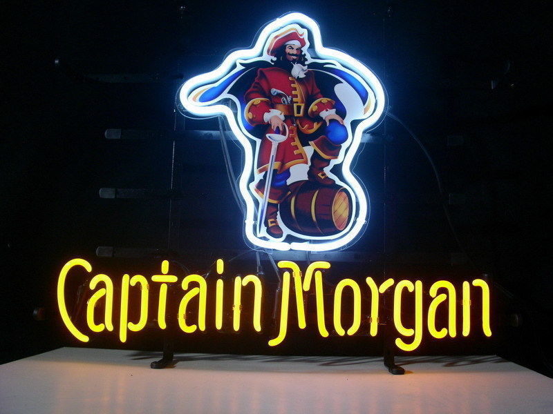 """NEW CAPTAIN MORGAN RUM PIRATE LIGHT SIZE: 17""""X14"""" GLASS NEON SIGN LIGHT BEER BAR PUB SIGN ARTS CRAFTS GIFTS SIGNS(China (Mainland))"""