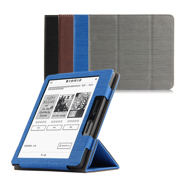 "New Pu leather Tri-fold desk mount stand holder e-books ebook Reader protective back cover case cover for 6"" Amazon Kindle Oasis(China (Mainland))"