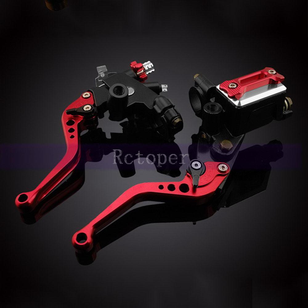 "7/8"" 22mm Universal Standard Handle bar Clutch Brake Master Cylinder Kit Reservoir Adjustable Levers For Ducati Honda(China (Mainland))"