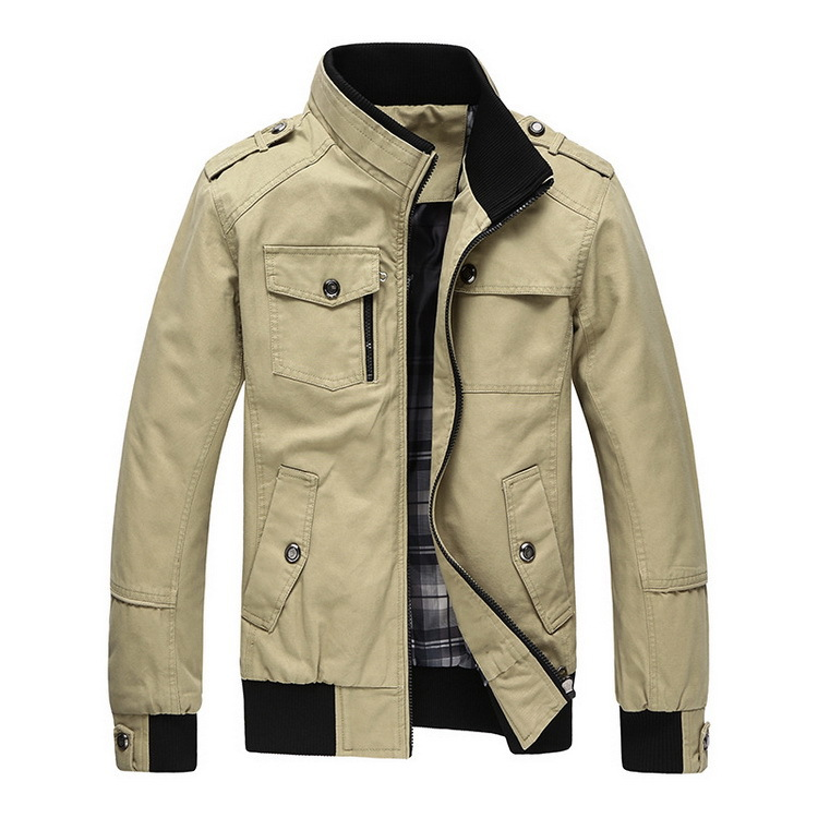 2016 New Autumn & Winter Men's Cotton Jackets Stand Collar Mens Jackets Fashion Casual Outerwear for Men Plus Size 3XL, CA114(China (Mainland))