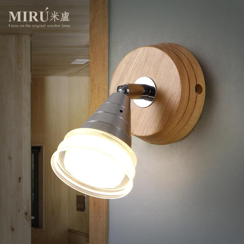 Modern Brief LED Living Room Wall Lights Led Wood Bed Light Personalized Balcony Solid Wood Wall Lamp Free Shipping<br><br>Aliexpress