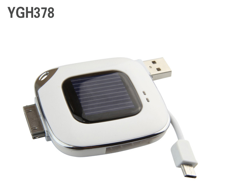 S13010/11 HAPTIME YGH378 500mAh Portable Solar Mobile Phone Emergency Charger Solar Rechargeable Travel Battery Chargers FS(China (Mainland))