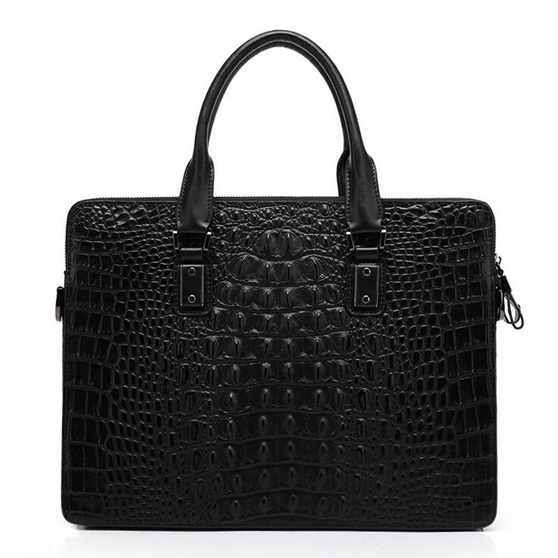 100% Genuine Leather Men Bag Alligator Shoulder Bags Vintage Compute Handbag Natural Leather Mens Briefcase Business Bags 2016<br><br>Aliexpress