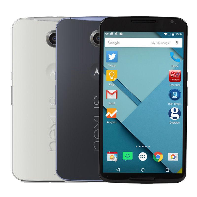 "Original Motorola Google Nexus 6 XT1103 XT1100 Quad Core Cell Phone 5.96"" inch 3GB RAM 32GB/64GB ROM 13MP 4G LTE Refurbished(China (Mainland))"