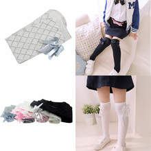 Cheap Factory Price Kids Girls Cotton Stockings Tights School High Knee Bow Leg Warmer 1 7