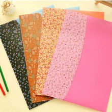 4 pcs/lot Waterproof Floral A4 PVC Documents File Bag Folder envelope stationery Filing Production Office School supplies(China (Mainland))