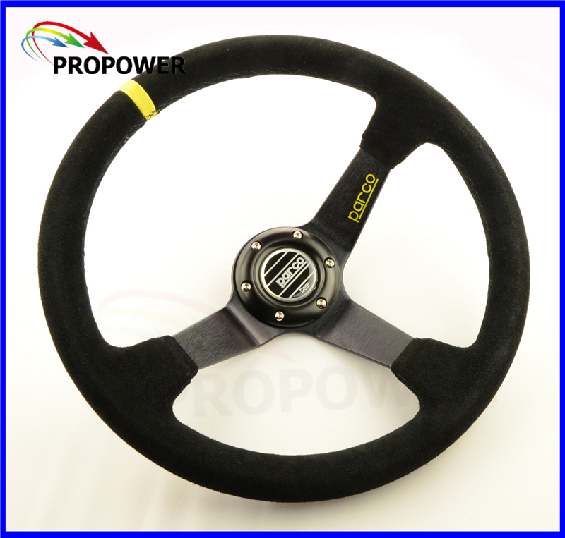 14inch 350mm Suede Leather Sparc0 deep Corn Drifting Steering Wheel<br><br>Aliexpress