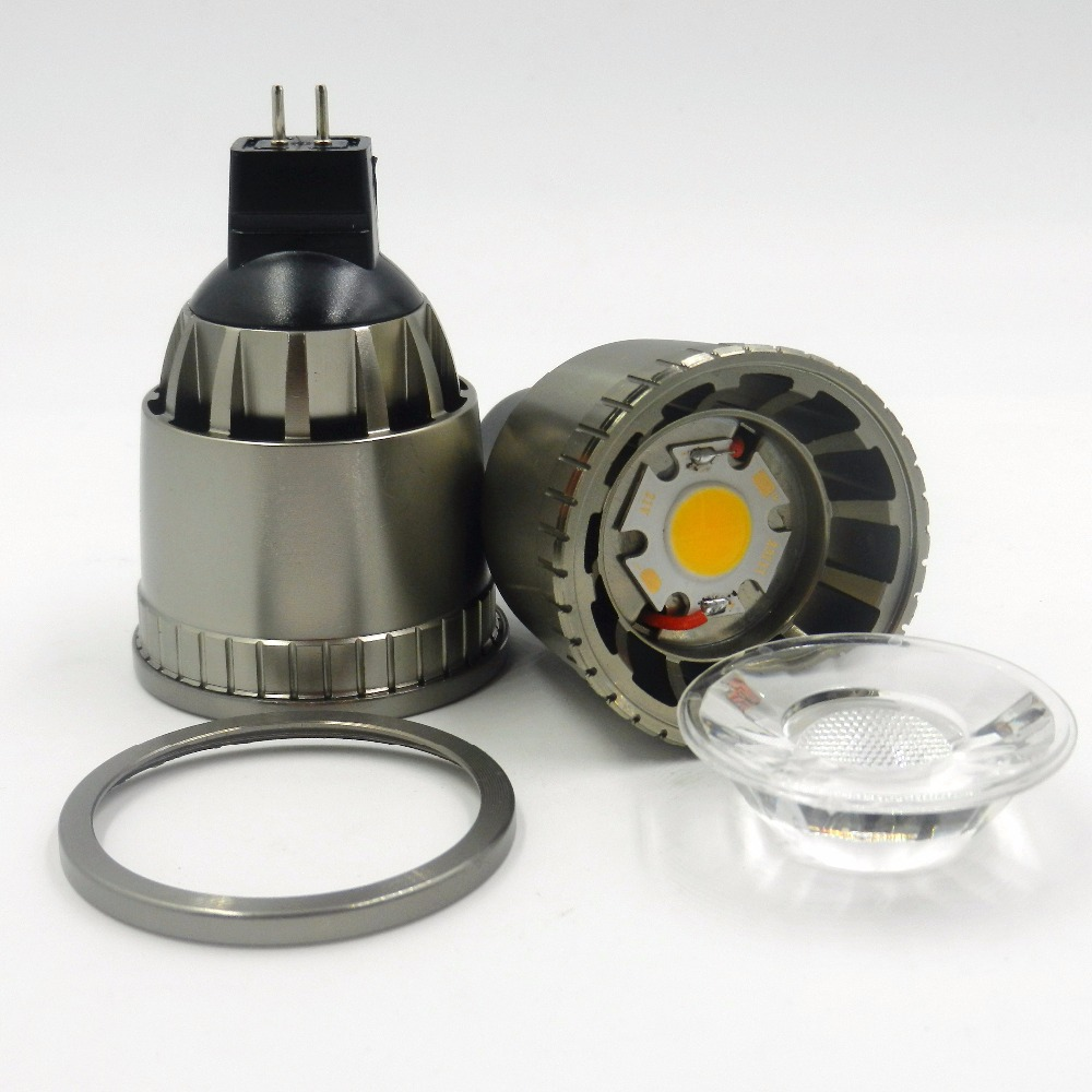 12W MR16 LED spotlight COB light Warm white/cool White LED bulb lamp AC12V DC12V lamparas LED Aluminum alloy body