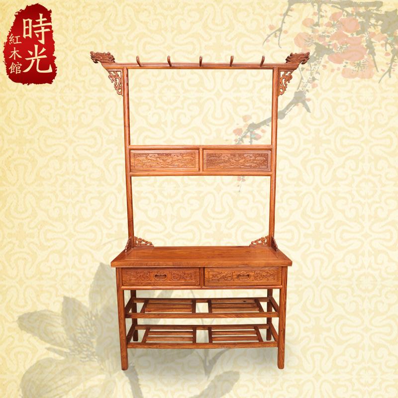 Chinese antique mahogany furniture, African rosewood wood floor faucet coat rack coat hangers Shoe(China (Mainland))