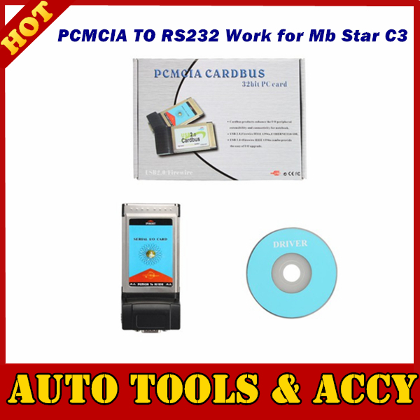 16-bit PC Card Compliant (PCMCIA Revision 7.1) PCMCIA TO RS232 Work for Mb Star C3 With Other Computer Not IBM T30(China (Mainland))