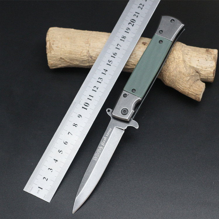 Hot Sale Survival Knife SOG Pocket Folding Blade Knife G10 Handle Hunting Tactical Knives Camping Outdoor Tools Free Shipping ST(China (Mainland))