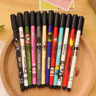 12 pcs/lot New Cute Cartoon Kawaii Diamond Tip Anime Gel pens for Gifts School Matrails Korean Stationery Free shipping 067<br><br>Aliexpress