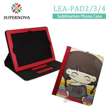 Free Shipping, Sublimation Flip Case, Custom Phone Case, Blank Leather Cover for Apple iPad 2/3/4, 15pcs/lot(China (Mainland))
