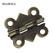 Hoomall 50PCs Cabinet Door Hinge 4 Holes Butterfly Bronze Tone 20mm x17mm Free Shipping(China (Mainland))