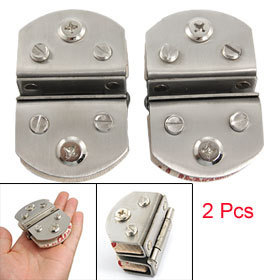 """0.445"""" Thick Glass to 0.445"""" Thick Glass Alloy Hinges 2 Pcs Free shipping"""
