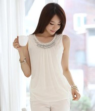 Blusas Vetement Femme Chemise  Women Clothes Top Blusa De Renda Feminino Camisa Sleeveless Blouse Tops Ropa Mujer Plus Size 3XL(China (Mainland))