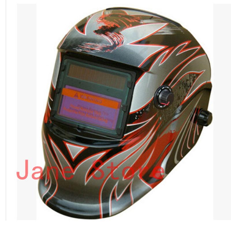 Gray 9-13 Adjustable solar auto darkening welding welders Protective helmet Electrical necessary DHCP-15(China (Mainland))