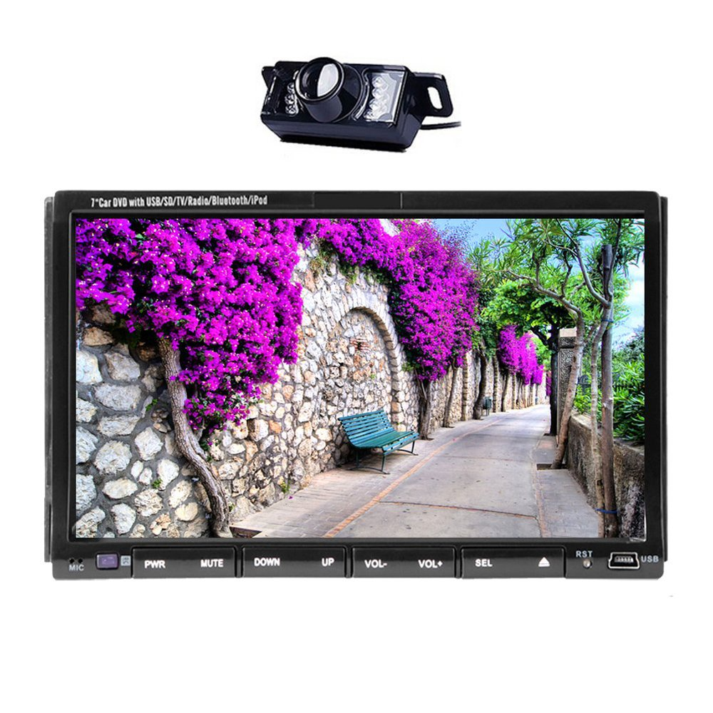 """Navigation Receiver with 7"""" Touchscreen Display Double 2 Din Car Radio DVD Player GPS Radio Stereo Video Player Headunit Car PC(China (Mainland))"""