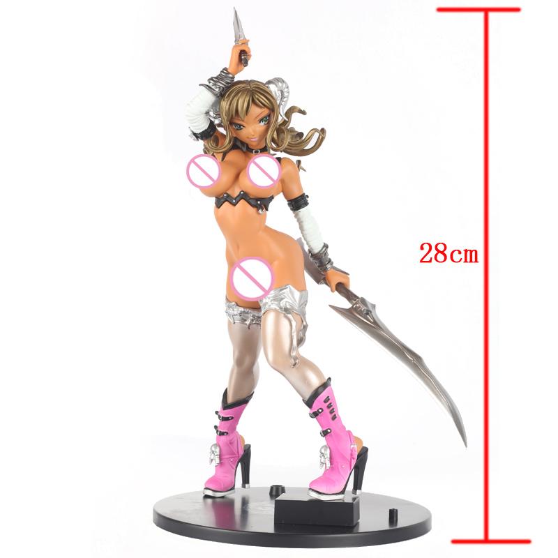 2017 Super Sexy Japan Anime KEUMAYA Final Figure Model Hyper Nurse GAL MAKO Gold GOAT DAUGHTER PVC Action Figure Gifts HX-00015(China (Mainland))