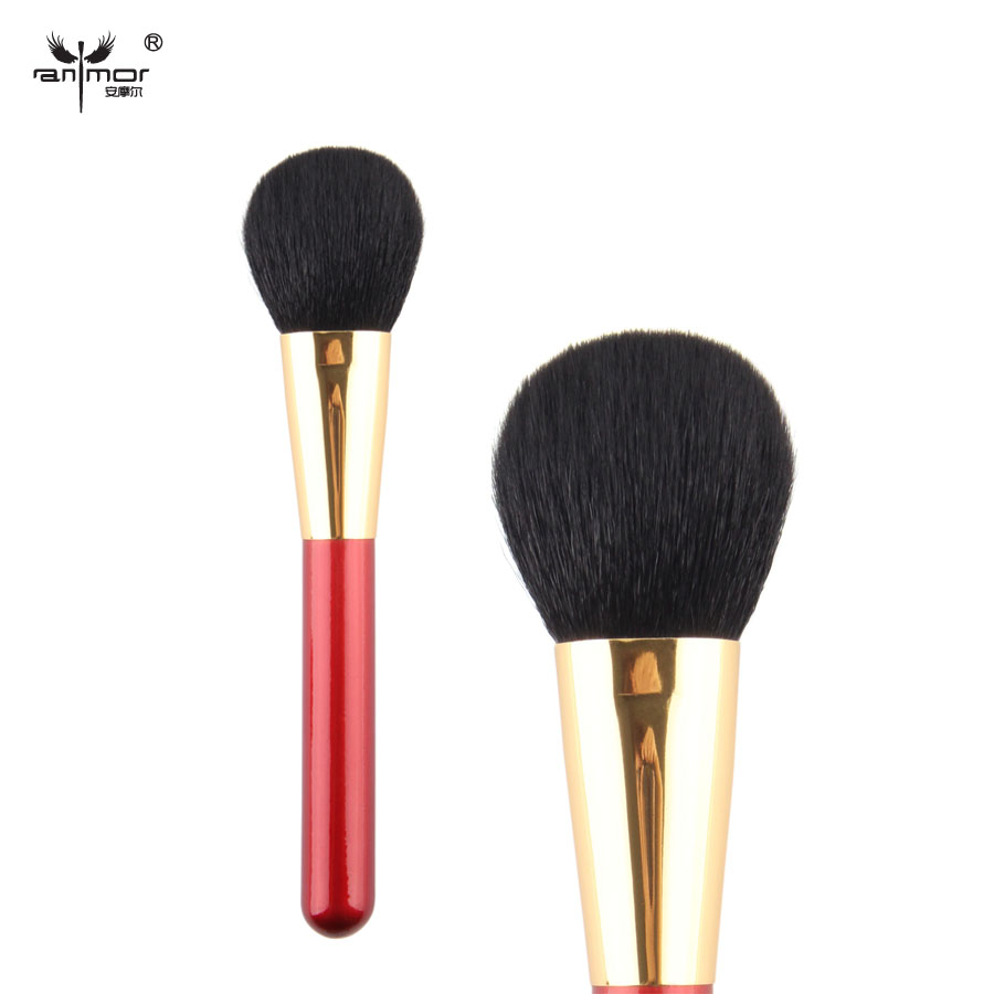New Arrival Cheap 1 pcs Powder goat hair Black Brush Single Cosmetics Makeup Brushes Professional(China (Mainland))