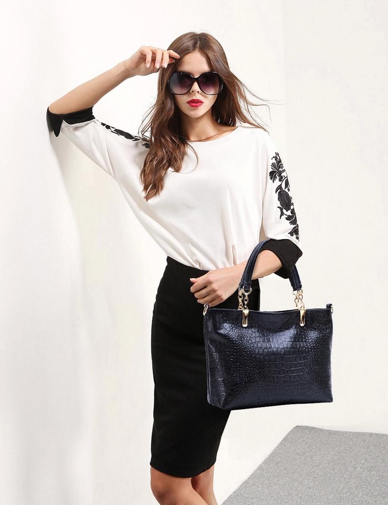 2015 Fashion Brand GENUINE LEATHER Handbag Women Vintage Tote Cow