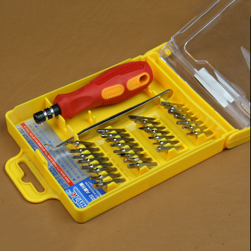32 In 1 Set Micro Electric Screwdriver Set Pocket Magnetic Screwdriver Set For Precision Cell Phone Reparing With Tool Box(China (Mainland))