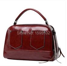 New 2016 fashion oil wax vintage all-match one shoulder cross-body women's handbag women messenger bags freeshipping