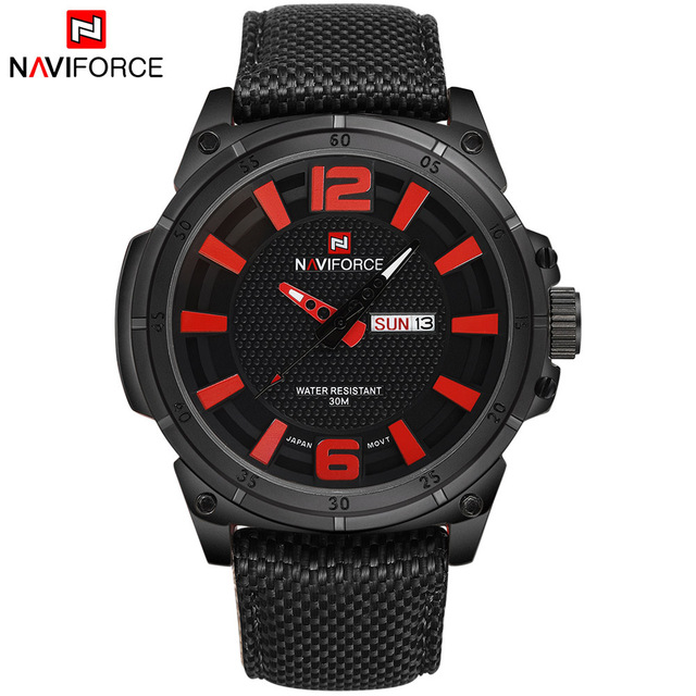2016 Relojes хомбре NAVIFORCE календарная бренд мужской мода свободного покроя часы мужчины военный кварцевые аналоговые дата часы человек ткани мужчины наручные часы