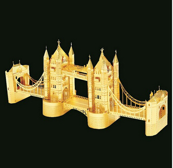 2015 New Puzzles 3D Metal DIY Assemble Intelligence Toy London Tower Bridge Model Assembled Adult Children Birthday Gift  -  Shenzhen Qinmay Technology Co., Ltd. store